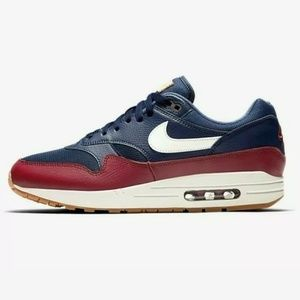 Nike Air Max 1 AH8145-400 Navy Blue Team Red Sail